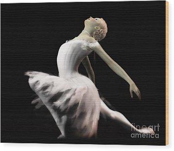 The White Swan - Ballerina Wood Print