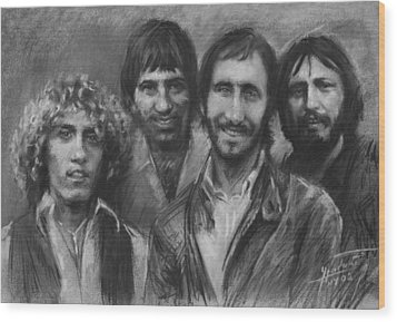 The Who Wood Print by Viola El