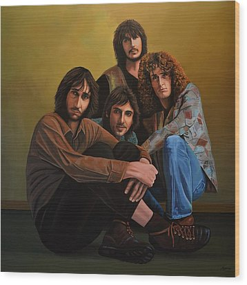 The Who Wood Print by Paul Meijering