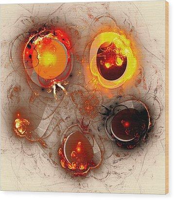 The Whole Cycle Wood Print by Anastasiya Malakhova