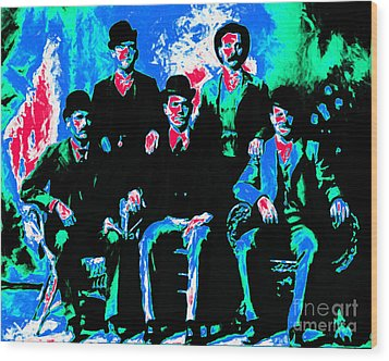 The Wild Bunch 20130212m135 Wood Print by Wingsdomain Art and Photography