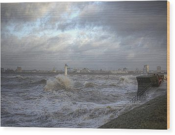 The Wild Mersey 2 Wood Print by Spikey Mouse Photography