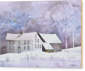 The Wilder Homestead Wood Print by Sally Rice