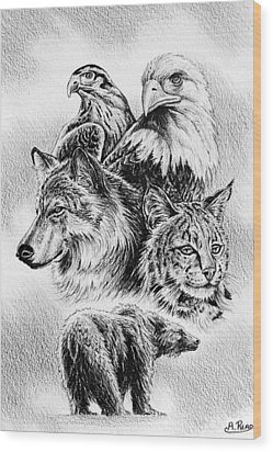 The Wildlife Collection 1 Wood Print by Andrew Read
