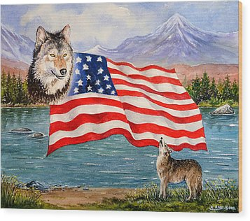 The Wildlife Freedom Collection 1 Wood Print by Andrew Read