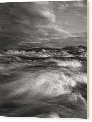 The Wind And The Sea Wood Print by Bob Orsillo