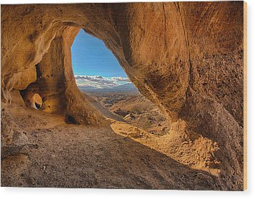 The Wind Caves Wood Print by Peter Tellone