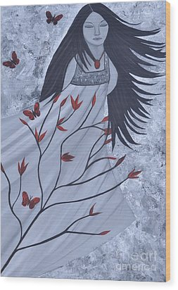 The Wind Of The Spirit Acrylic Painting By Saribelle Rodriguez Wood Print
