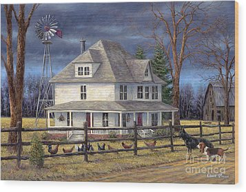 The Wind Takes You Back Wood Print by Chuck Pinson