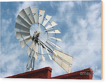 The Wind Wheel Wood Print by Kathy  White