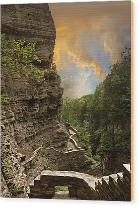 The Winding Trail Wood Print