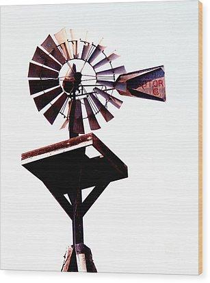 The Windmill Wood Print by Avis  Noelle
