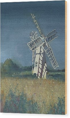 Wood Print featuring the painting The Windmill by Lori Ippolito