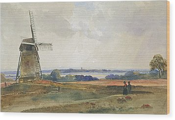 The Windmill Wood Print by Peter de Wint