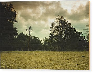 Wood Print featuring the photograph The Windmill by Susan D Moody