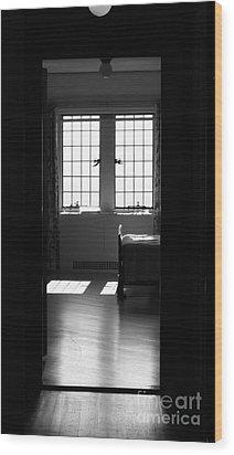 The Window Wood Print by Barbara Bardzik