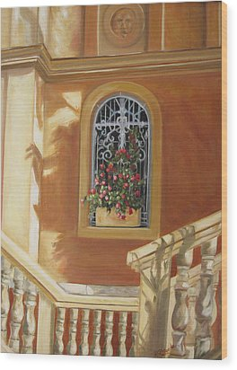 The Window Box Wood Print by Roberta Rotunda