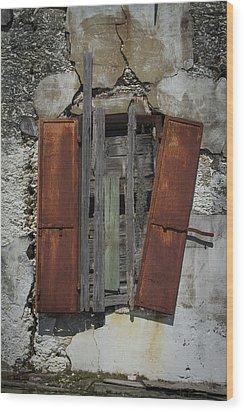 The Window Wood Print by Debra and Dave Vanderlaan
