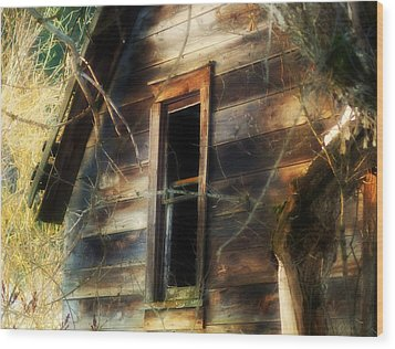 The Window2 Wood Print by Loni Collins