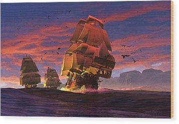 The Winds Of Triton Wood Print by Dieter Carlton