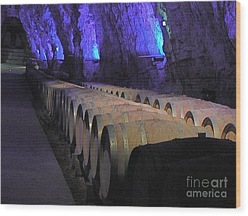 The Wine Cave Wood Print by France  Art