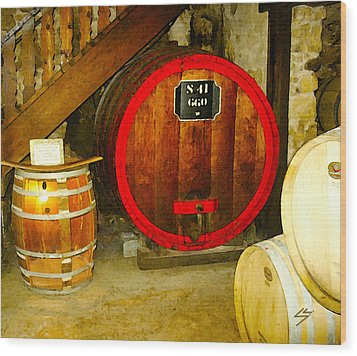 The Wine Cellar Wood Print by Sotiri Catemis