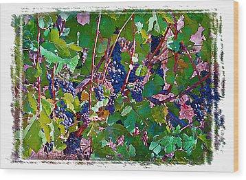 The Wine Maker II Wood Print by Ken Evans