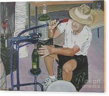 The Wine Maker Wood Print