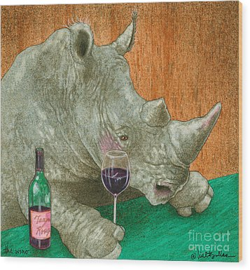 The Wino... Wood Print by Will Bullas
