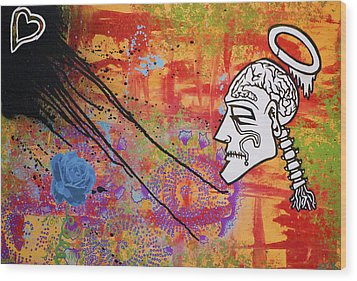 The Wise Man Strays Far From The Heart Wood Print by Bobby Zeik