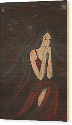 The Wish Wood Print by Kathy Peltomaa Lewis