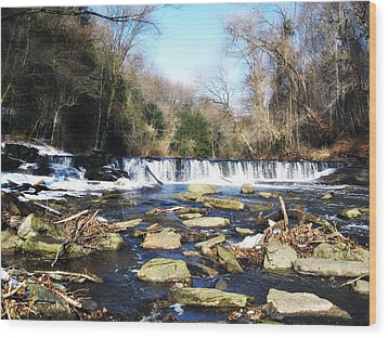 The Wissahickon Creek In February Wood Print by Bill Cannon