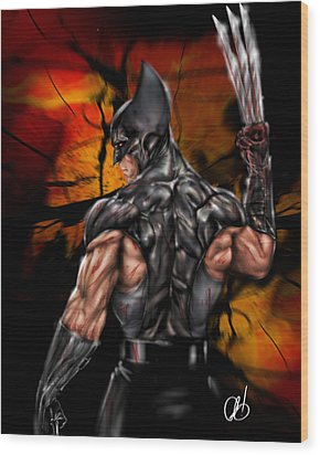 The Wolverine Wood Print