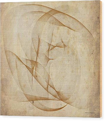 The Womb Wood Print by Marian Palucci-Lonzetta