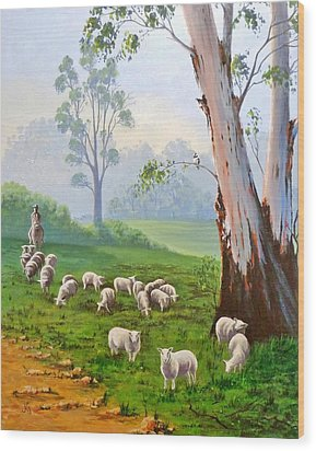 The Wool Road Wood Print by Anne Gardner