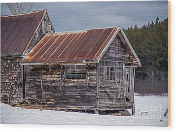 The Work Shed Wood Print by Alana Ranney