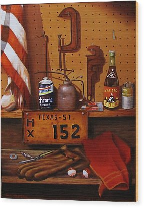 The Workshop Wood Print by Gene Gregory