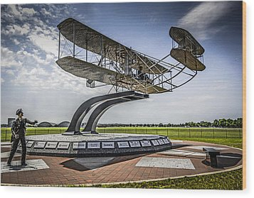 The Wright Flyer Wood Print by Chris Smith