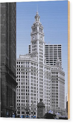 The Wrigley - A Building That Is Pure Chicago Wood Print by Christine Till