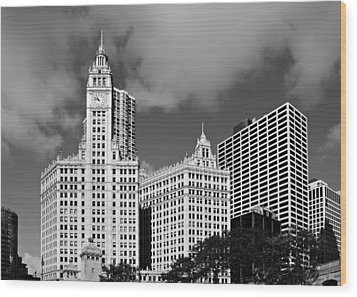 The Wrigley Building Chicago Wood Print by Christine Till