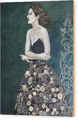 The Writer's Muse Wood Print by Enzie Shahmiri