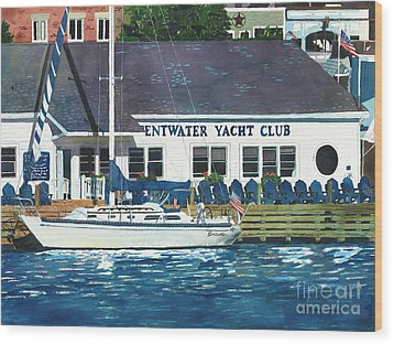 The Yacht Club Wood Print by LeAnne Sowa