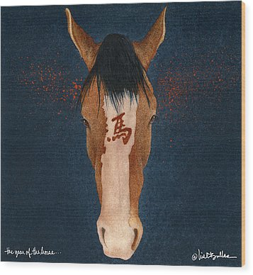The Year Of The Horse... Wood Print by Will Bullas