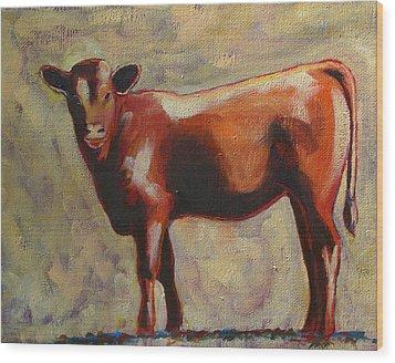 The Yearling Calf Wood Print