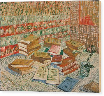 The Yellow Books Wood Print by Vincent Van Gogh