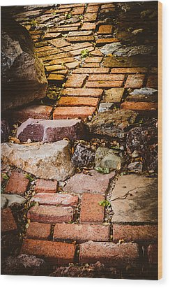 Wood Print featuring the photograph The Yellow Brick Road by Beverly Parks