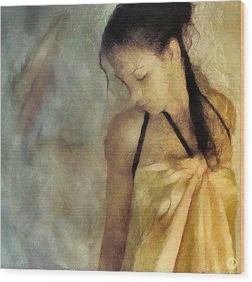 The Yellow Dress Wood Print by Gun Legler