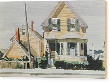 The Yellow House Wood Print by Edward Hopper