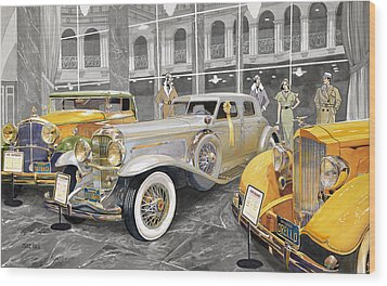The Yellow Ribbon Wood Print by Mike Hill
