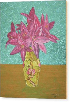The Yellow Vase Wood Print by John Keaton